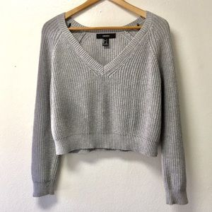 Knitted V-neck sweater